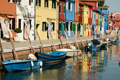 Venice, Burano island houses Royalty Free Stock Image