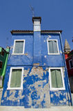 Venice - Burano. Typical colored houses of Burano island Royalty Free Stock Images