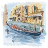 Venice - Calle Fondamenta Megio Stock Photos