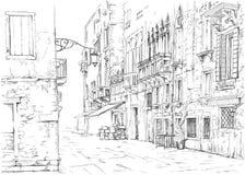 Venice - Calle Fondamenta Megio Royalty Free Stock Images