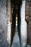 Venice, Calle Varisco the narrowest street in the city, Italy. Royalty Free Stock Photos