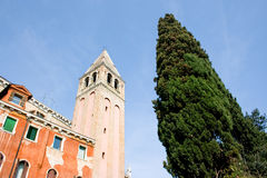 Venice campanile bell tower Royalty Free Stock Photography