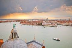 Venice from campanile of San Giorgio Maggiore Royalty Free Stock Image
