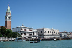 Venice. Campanile of the St Mark's Basilica and the Doge Palace, Venice, Italy Stock Photo