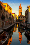 Venezia Campo San Barnaba. Campo San Barnaba, Venezia, Italy at sunset Royalty Free Stock Photo