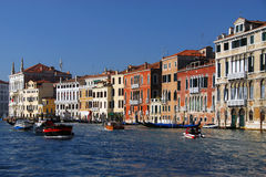 Venice Canal. Nice colored old buildings in the main Venice Canal Royalty Free Stock Photos