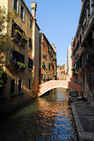 Venice canal. A small typical canal in Venice, Italy Stock Images