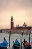 Venice - canal. Photo of venice -gondola on the canal stock photography