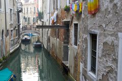 Venice Canal. Canal in venice italy Royalty Free Stock Images
