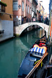 Venice canal and boat Royalty Free Stock Image
