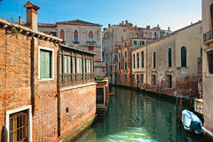 Venice, Canal and Boat. Royalty Free Stock Image