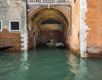 Venice Canal and Boat House Stock Image