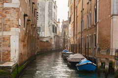 Venice. Canal and boat in Venice - Italy stock photography