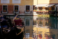 Venice canal with boat Royalty Free Stock Photos