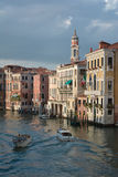 Venice canal with boats Royalty Free Stock Image