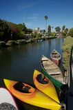 Venice canal boats , los angeles Royalty Free Stock Photos