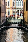 Venice Canal and Bridge Royalty Free Stock Photo