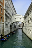 A Venice canal and the Bridge of Sighs Royalty Free Stock Photos