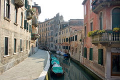 Venice canal and buildings Royalty Free Stock Photo