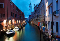 Venice canal early in the morning Royalty Free Stock Photos