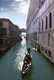 Venice, canal with gondola Stock Photos