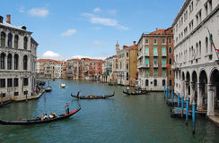 Venice Canal and gondola Royalty Free Stock Photos