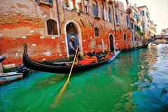 Venice Canal and Gondola Stock Photo