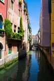 Venice canal with gondola, Italy Royalty Free Stock Images