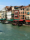 Venice, Canal Grande. View from the Rialto bridge royalty free stock photography