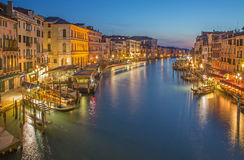 Venice - Canal grande in evening dusk Stock Photos
