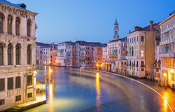 Venice - Canal grande in evening dusk Royalty Free Stock Photo