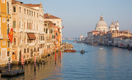 Venice - Canal grande in evening light Stock Images
