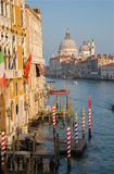 Venice - Canal grande in evening light from Ponte Accademia Royalty Free Stock Photos