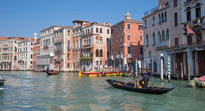 Venice - Canal Grande and gondolier Royalty Free Stock Photography