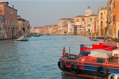 Venice - Canal grande in morning light Royalty Free Stock Photos