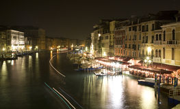 Venice - canal grande in night Stock Photography