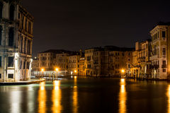 Venice canal grande by night Royalty Free Stock Image