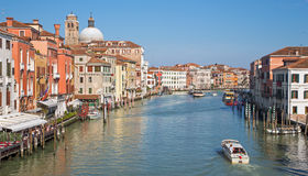 Venice - Canal grande from Ponte degli Scalzi Stock Image
