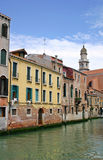 Venice canal and houses Royalty Free Stock Image