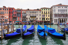 Venice canal and houses Stock Photography