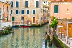 Venice canal in Italy stock image