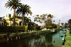 Venice canal in los Angeles California. Royalty Free Stock Photography