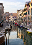 Venice - canal in morning Stock Photography