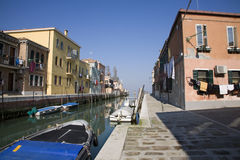 Venice - canal from Murano island Stock Image