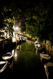 Venice canal by night Stock Image
