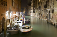 Venice - canal in the night Royalty Free Stock Image