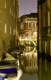 Venice - canal in night Royalty Free Stock Images