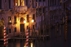 Venice canal at night Royalty Free Stock Photos