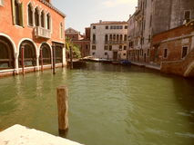 Venice canal. A canal in Venice, in Northern Italy Royalty Free Stock Image