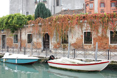 Venice canal. Photo image  with  boats in venice canal Royalty Free Stock Photos